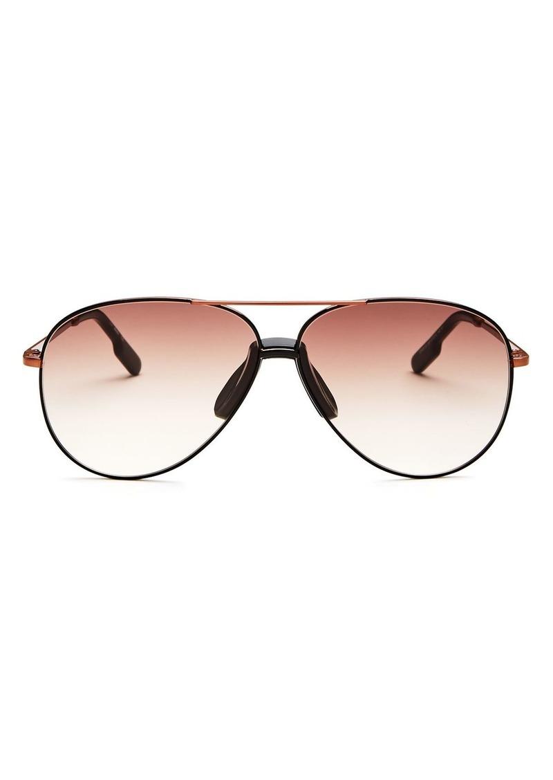 Kenzo Women's Brow Bar Aviator Sunglasses, 61mm