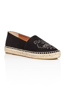 Kenzo Women's Classic Tiger-Embroidered Espadrille Flats