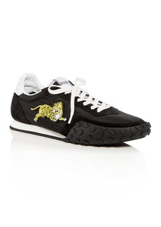 Kenzo Women's Tiger Appliqu� Quilted Lace Up Sneakers