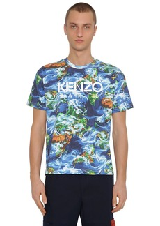 Kenzo World Printed Cotton T-shirt