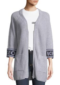 Kenzo Zip-Front Sport Long Cardigan