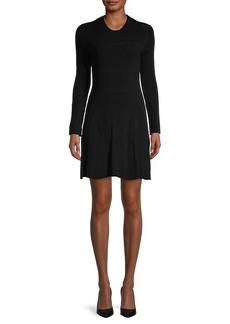 Kenzo Knit Long-Sleeve Flare Dress