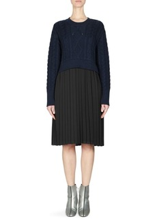 Kenzo Knit Pleated Sweater Dress