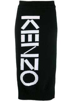 Kenzo knitted logo skirt