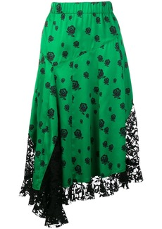 Kenzo lace panelled skirt