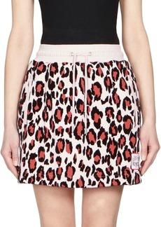 Kenzo Leopard Print Mini Skirt