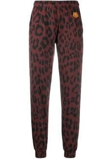Kenzo leopard print track pants