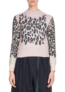 Kenzo Leopard-Print Wool Pullover Sweater