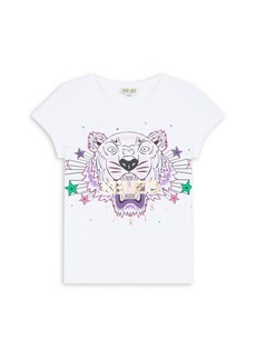 Kenzo Little Girl's & Girl's Cotton Tiger Tee