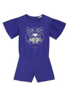 Kenzo Little Girl's & Girl's Graphic Logo T-Shirt Romper