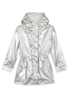 Kenzo Little Girl's & Girl's Iridescent Logo Jacket
