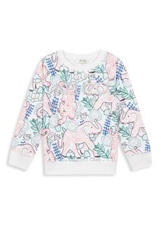 Kenzo Little Girl's & Girl's Jungle-Print Sweatshirt