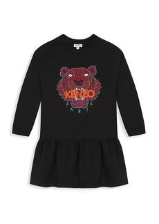 Kenzo Little Girl's & Girl's Tiger Fleece Dress