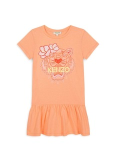 Kenzo Little Girl's Graphic Logo T-Shirt Dress