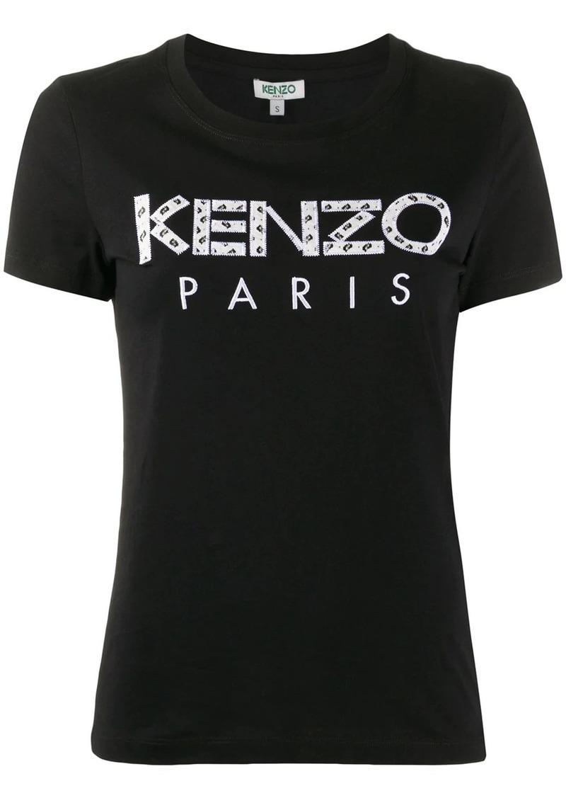 Kenzo logo-appliqué crew neck T-shirt