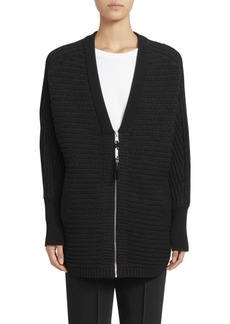 Kenzo Logo Back Zip-Up Cardigan