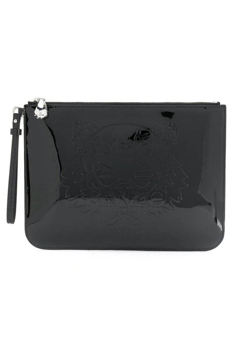 Kenzo logo-debossed faux-leather clutch