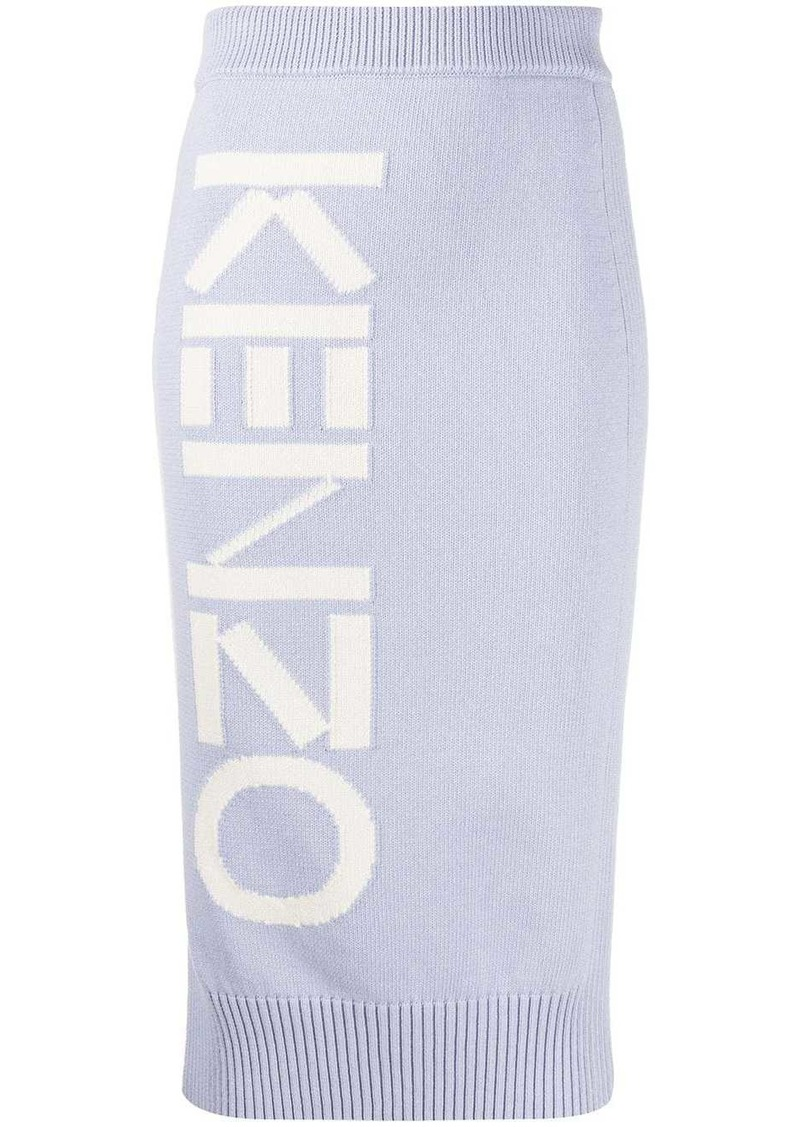 Kenzo logo detail pencil skirt