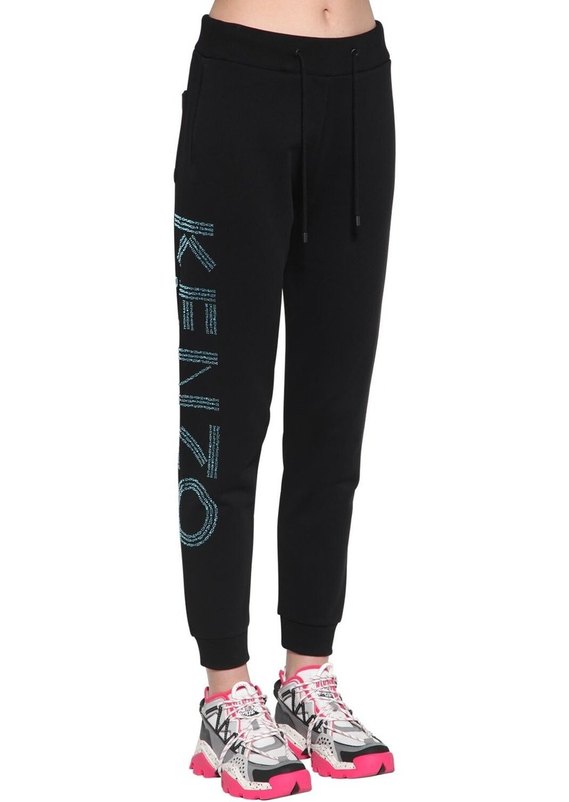 Kenzo Logo Embellished Cotton Sweatpants