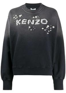 Kenzo logo-embellished ombré sweatshirt