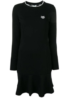 Kenzo logo embroidered mini dress