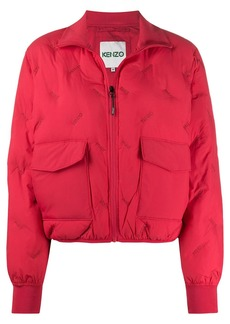 Kenzo logo embroidered padded jacket