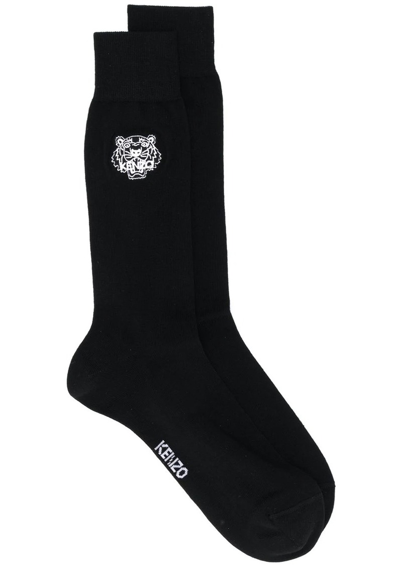 Kenzo logo embroidered socks