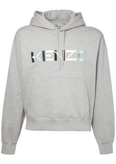 Kenzo Logo Embroidery Cotton Sweatshirt Hoodie