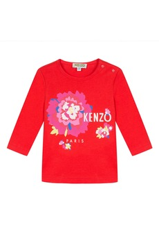 Kenzo Logo Flower Tee  Size 6-18 Months