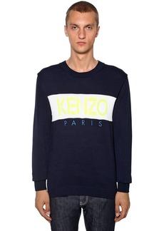 Kenzo Logo Intarsia Cotton Sweater