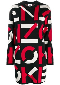 Kenzo logo intarsia sweater dress
