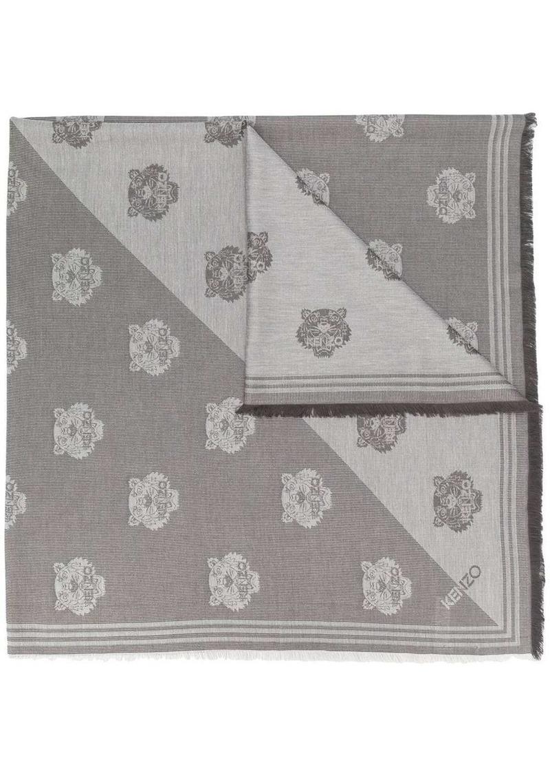 Kenzo logo-jacquard scarf