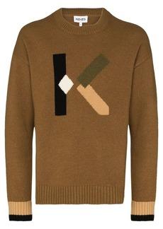 Kenzo logo intarsia-knit jumper