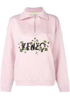 Kenzo logo long-sleeve polo top