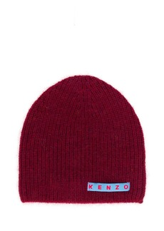 Kenzo logo patch knitted beanie