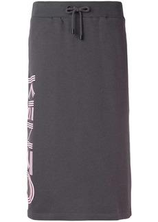 Kenzo logo pencil skirt
