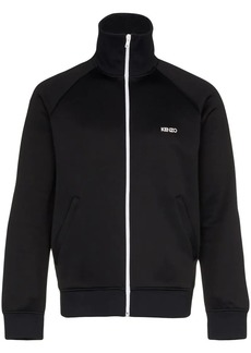 Kenzo logo print cotton blend track jacket