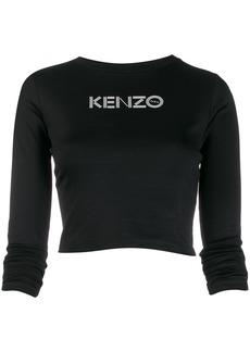 Kenzo logo-print cropped top