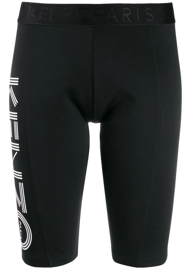 Kenzo logo print cycling shorts