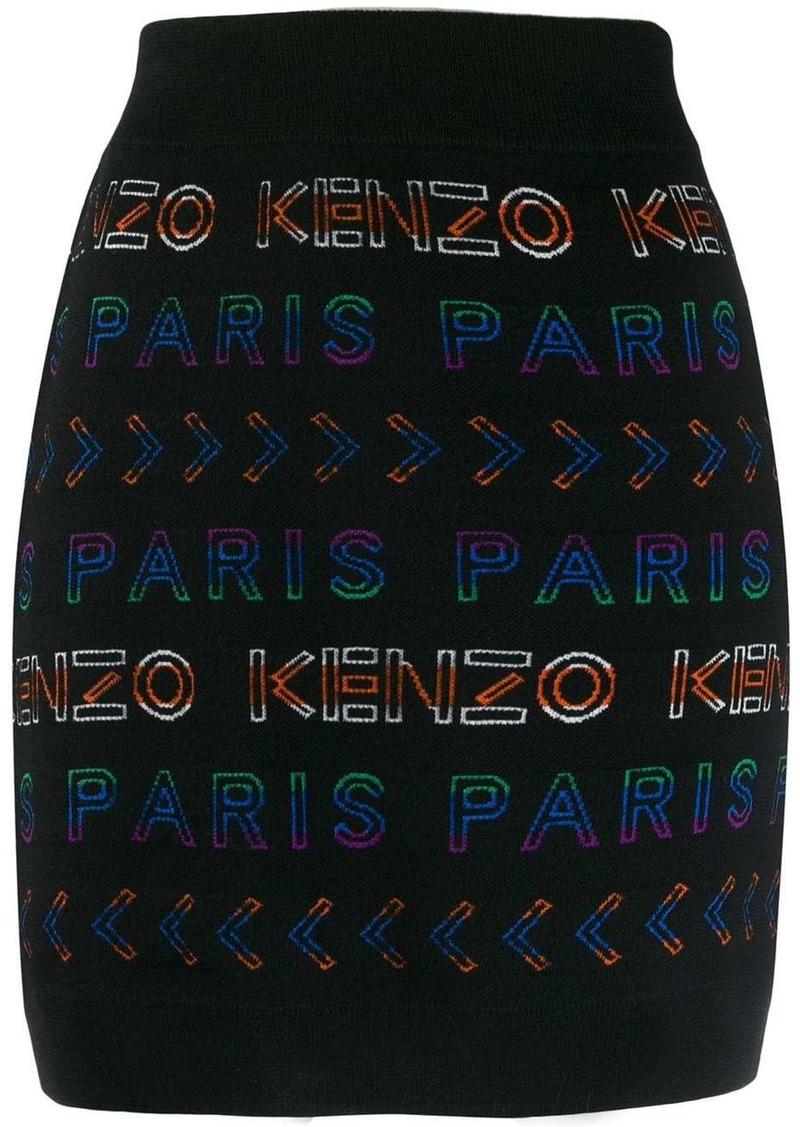 Kenzo logo print mini skirt