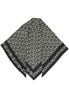 Kenzo logo-print silk scarf