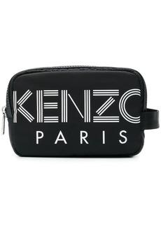 Kenzo logo print wash bag