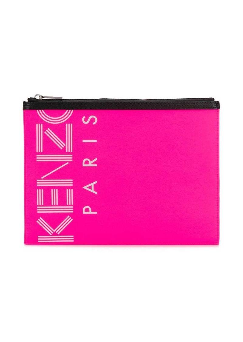 Kenzo logo printed clutch bag