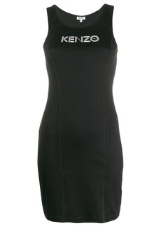Kenzo logo printed mini dress