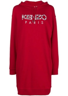 Kenzo logo printed sweatshirt dress