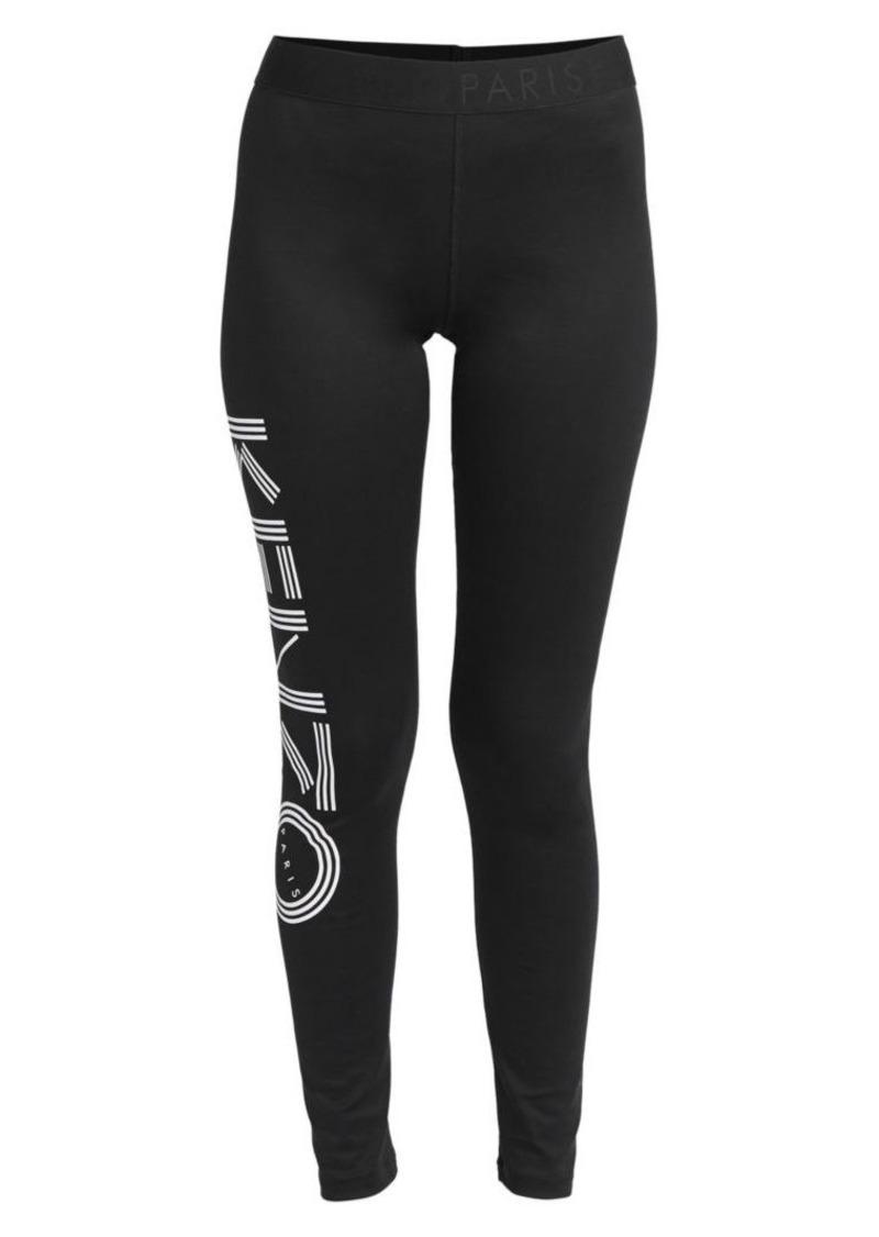 Kenzo Logo Stretch Cotton Leggings