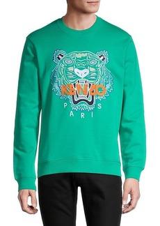 Kenzo Logo Stretch-Cotton Sweatshirt