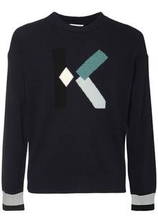 Kenzo Logo Wool Blend Crewneck Sweater