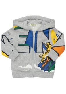 Kenzo Logo Zip-up Cotton Blend Sweatshirt