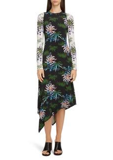 Kenzo Long Sleeve Asymmetrical Dress